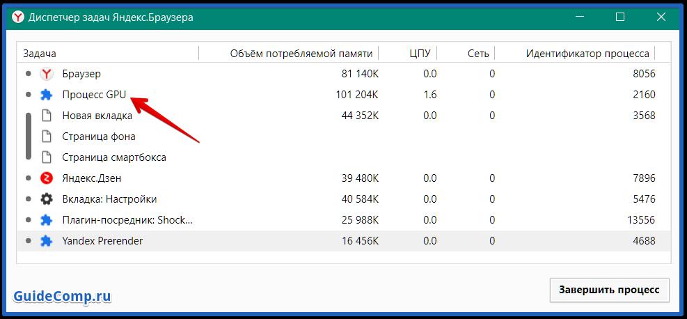 яндекс браузер грузит процессор на 100 процентов