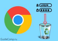 как удалить пароли в гугл хром