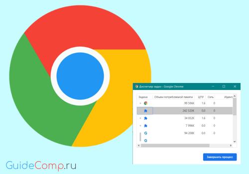 гугл хром в диспетчере задач много процессов